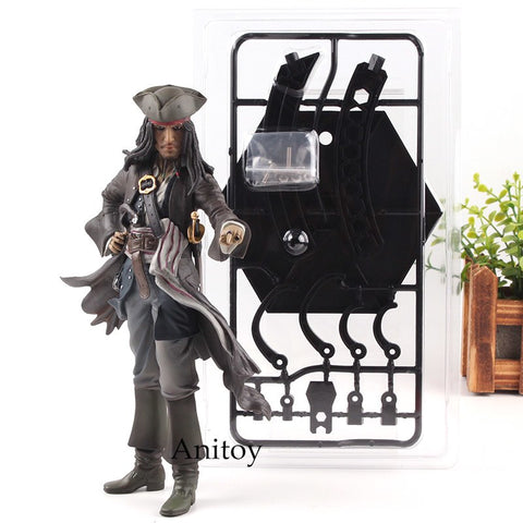 Image of Captain Jack Sparrow from Pirates of the Caribbean Dead Men Tell No Tales  PVC Collection Model Toys - Protect The Wolves