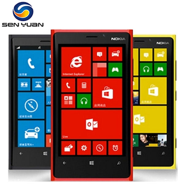 Original Unlocked Nokia Lumia 920 GPS WiFi 3G&4G 32GB ROM 1GB RAM 8MP Camera Unlocked Windows Cell phone