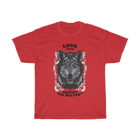 Image of Unisex Love Lupus Wolf T-Shirts by Protect The Wolves- Protecting Your Resources - Protect The Wolves