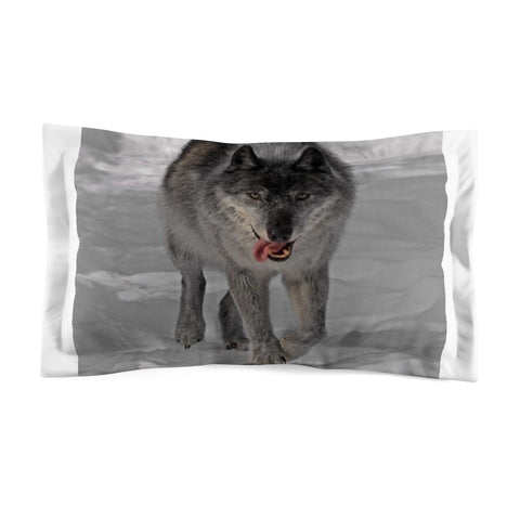 Microfiber Wolf Pillow Sham King and Standard by Protect The Wolves - Protect The Wolves