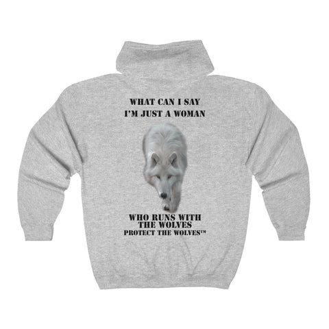 What Can I say I'm Just a Woman That Runs With The Wolves Hoodie - Protect The Wolves