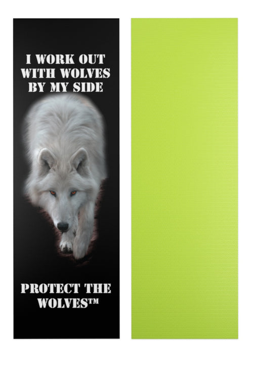 Custom Yoga mat for Wolf Lovers - Protect The Wolves