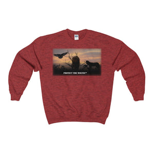 Wolf Lovers Unisex Heavy Blend™ Crewneck Sweatshirt - Protect The Wolves
