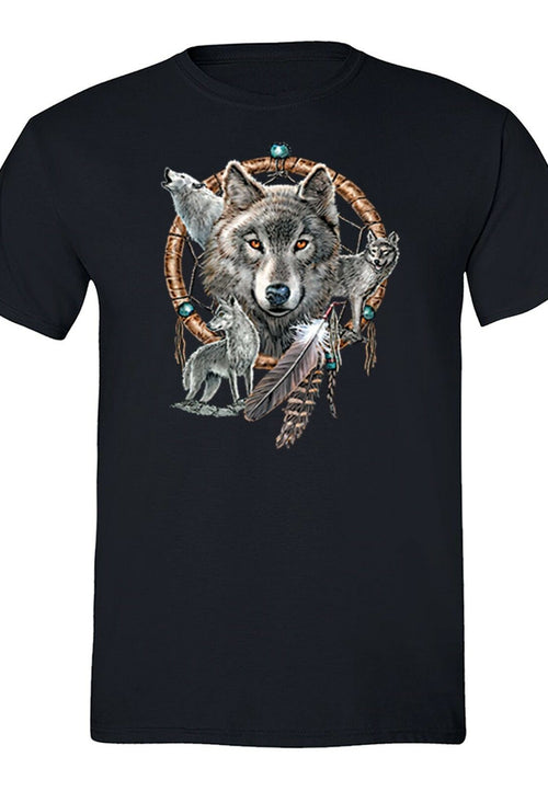 Native american 4 Wolves Dreamcatcher - Protect The Wolves