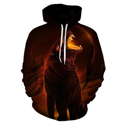 Native Wolf Hoodie - Protect The Wolves