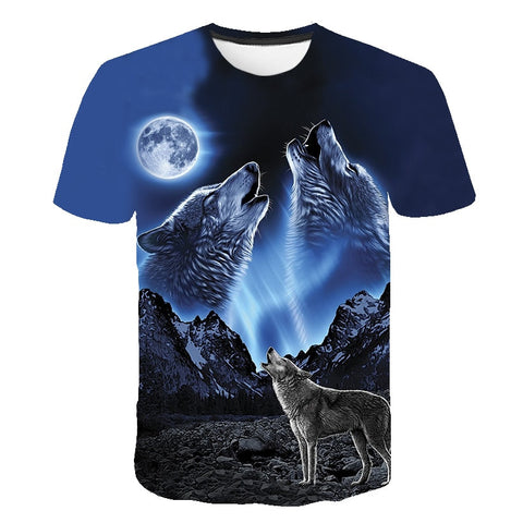 Image of 3D Wolf Unisex Wolf T-Shirt - Protect The Wolves