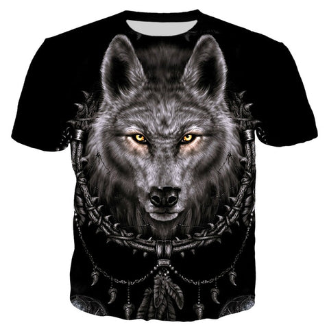 Image of Native Themed Wolf  T Shirt - Protect The Wolves