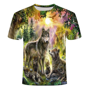 2019 3D Unisex Wolf tshirt - Protect The Wolves