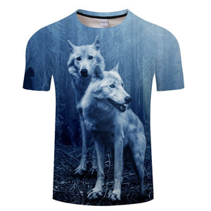 Unisex Ying and Yang Wolf Tshirt - Protect The Wolves