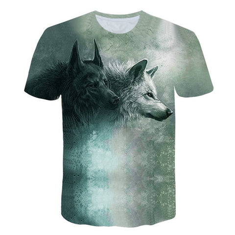 3 Wolves Howling at The Moon Wolf T-shirt - Protect The Wolves