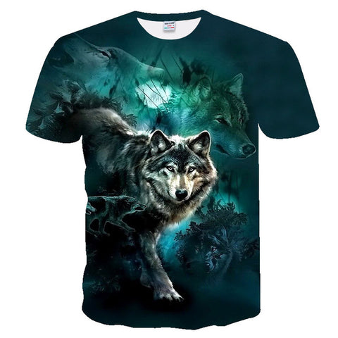 Image of Unisex New 3d t shirt Wolf T-shirt - Protect The Wolves