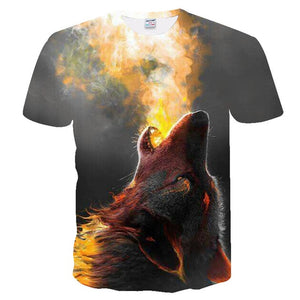 Unisex New 3d t shirt Wolf T-shirt - Protect The Wolves