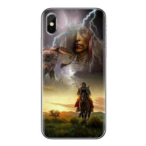 Native american Transparent Soft Cases - Protect The Wolves