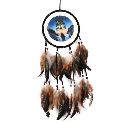 Handmade DreamCatcher - Protect The Wolves