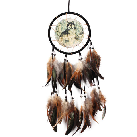 Wolf Totem Dream Catcher - Protect The Wolves