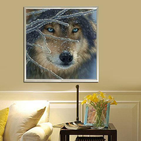 Mosaic wall picture for living room diamond painting full diamond embroidery cross stitch wolf beads square diamond sets animal - Protect The Wolves