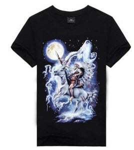 3D Wolf T-shirts Fashion Black - Protect The Wolves