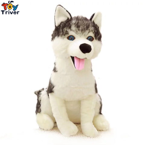 Plush Simulation Wolf Dog Husky Toy Stuffed Animal - Protect The Wolves