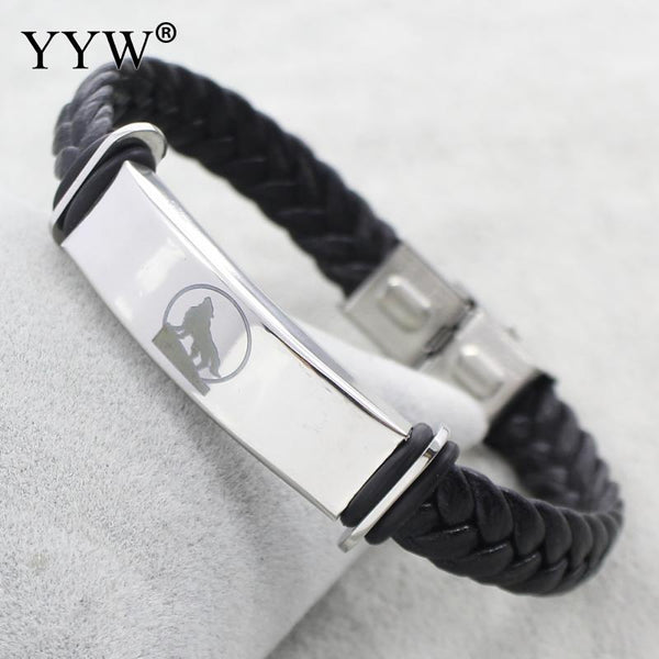 Wolf Totem Leather Jewelry Bracelet