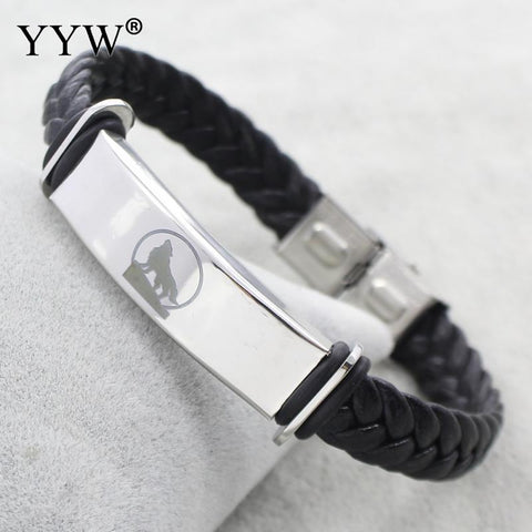 Wolf Totem Leather Jewelry Bracelet - Protect The Wolves