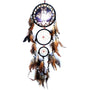 Wolf Style Unique yarn and feathers Rattan Dream Catcher with Feathers Wall Hanging Decoration Ornament