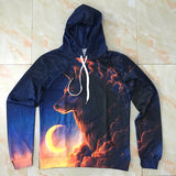Night Guardian Wolf 3D hoodies Men Sweatshirt Novelty Casual Hoodies Quality Drop ship Tracksuits Brand Pullover