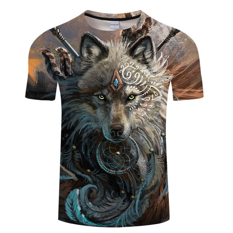 Unisex Wolf Warrior Wolf T-shirts - Protect The Wolves