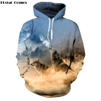 Plus Size Wolf Hoodies