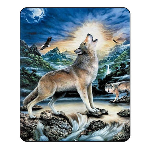 3d Wolf Blanket for Beds - Protect The Wolves