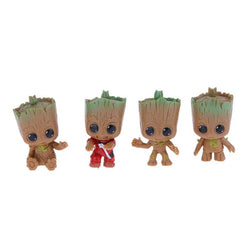 4PCS Baby Groot Doll Keychain