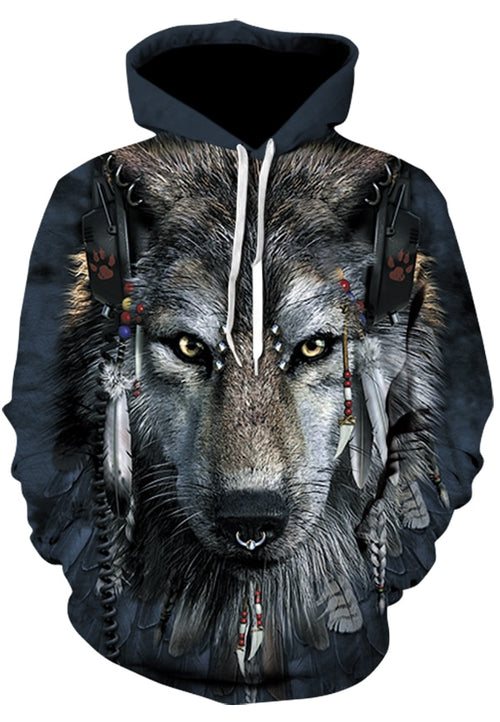 Native Wolf Men Women Hoodies 3d - Protect The Wolves