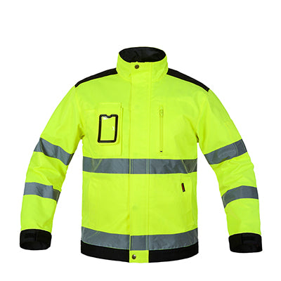 Image of Bauskydd reflective work wear jacket work trousers with knee pads free shipping - Protect The Wolves