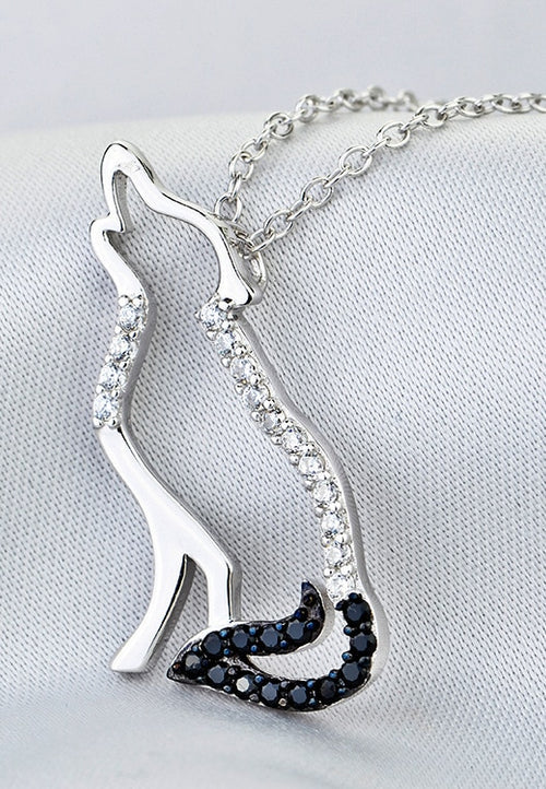Fine Jewelry 925 Sterling Silver Wolf Necklace - Protect The Wolves
