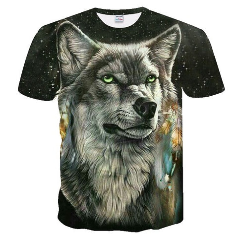 Image of 3D Wolf tshirt 4 Wolf Lovers - Protect The Wolves