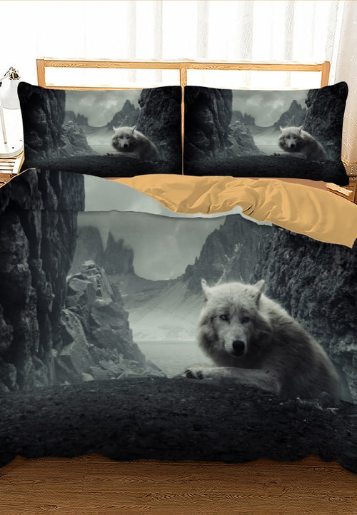 Wolf Bedding Set Twin Full Queen King - Protect The Wolves