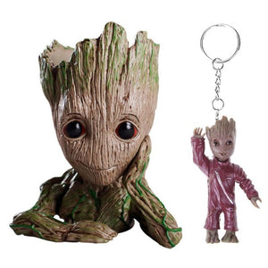 Baby Groot Action Figure  with 1PC Keychain - Protect The Wolves