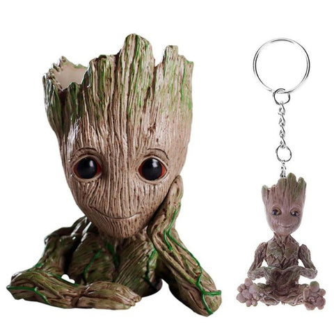 Image of Baby Groot Action Figure  with 1PC Keychain - Protect The Wolves