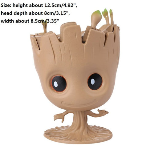 Baby Groot  Flowerpot Action Figures Model - Protect The Wolves