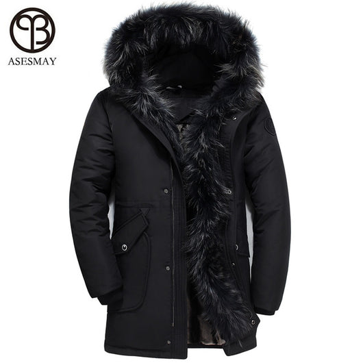 New Arrival Men and Women Down Jackets Winter Coats Mens Parkas Thick Warm Removable Real Fur Casual Hoodies Snow Parka