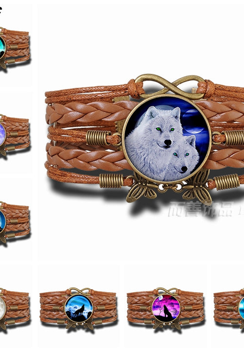 Howling Wolf Bracelet - Protect The Wolves