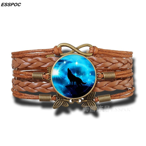Image of Howling Wolf Bracelet - Protect The Wolves