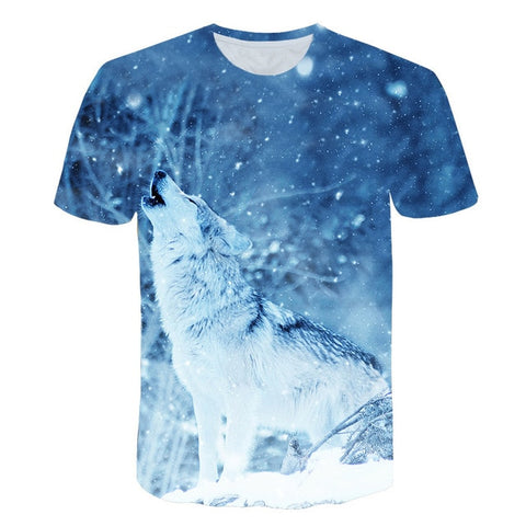 Image of Starry Wolf 3D print Tshirt Unisex  Short Sleeve T-shirt - Protect The Wolves