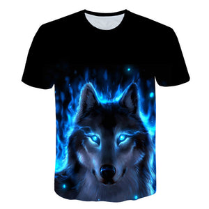Starry Wolf 3D print Tshirt Unisex  Short Sleeve T-shirt - Protect The Wolves