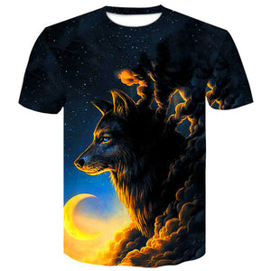 Native Wolf 3D Print Animal  T-Shirt - Protect The Wolves
