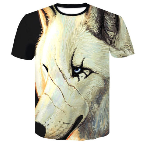 Image of Native Wolf 3D Print Animal  T-Shirt - Protect The Wolves
