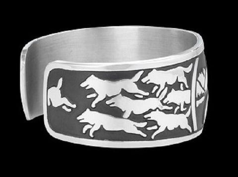Image of Wolf Howl Native Wolf Spirit Bracelet - Protect The Wolves