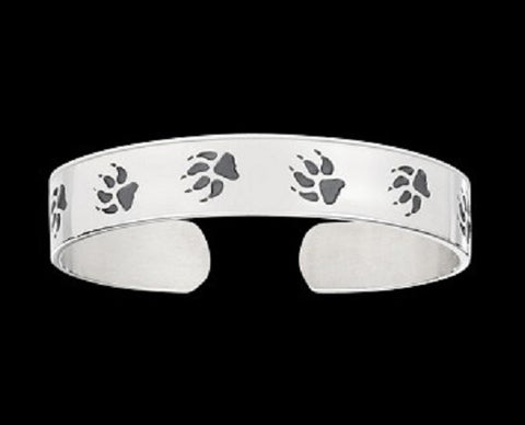 Image of Wolf Tracks Native Wolf Spirit Bracelet - Protect The Wolves