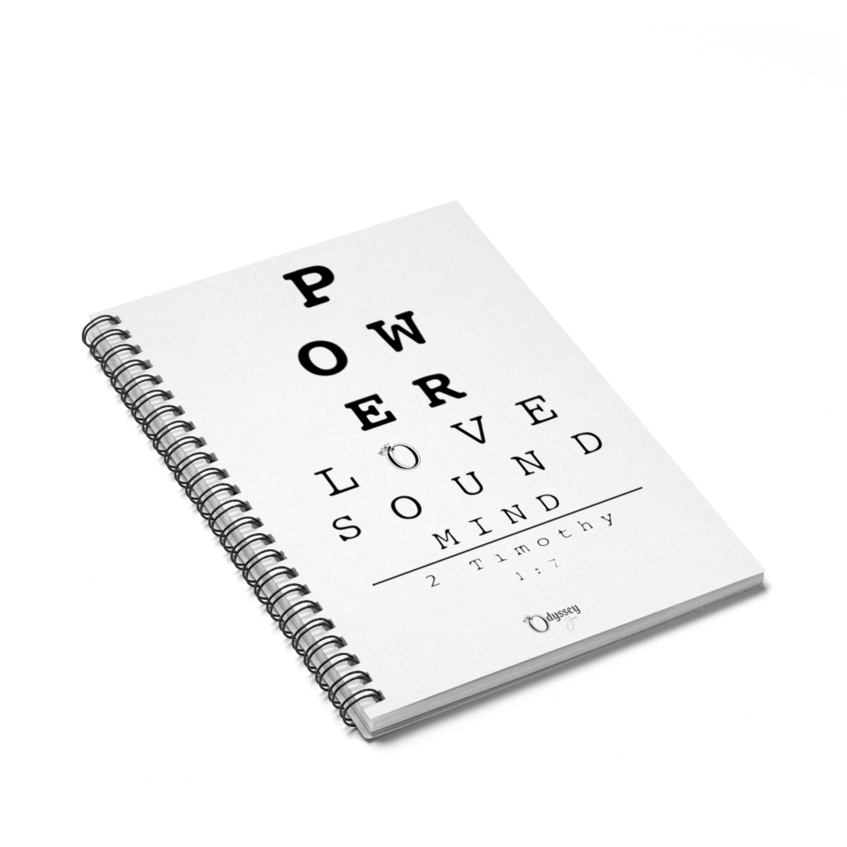 Odyssey Power, Love Sound Mind Spiral Notebook - Paper products - Odyssey By Yendi