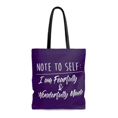 Odyssey Note to Self Tote Bag - Purple - Bags - Odyssey By Yendi