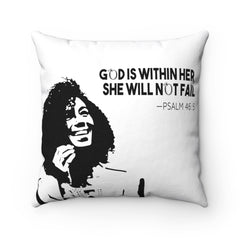 Odyssey God Is Within Her Square Pillow - Home Decor - Odyssey By Yendi